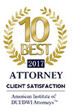 10 Best DUI Attorney badge