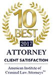 2017 10 Best Criminal Law Attorneys for Client Satisfaction