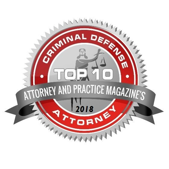 Top 10 Criminal Defense Attorney badge